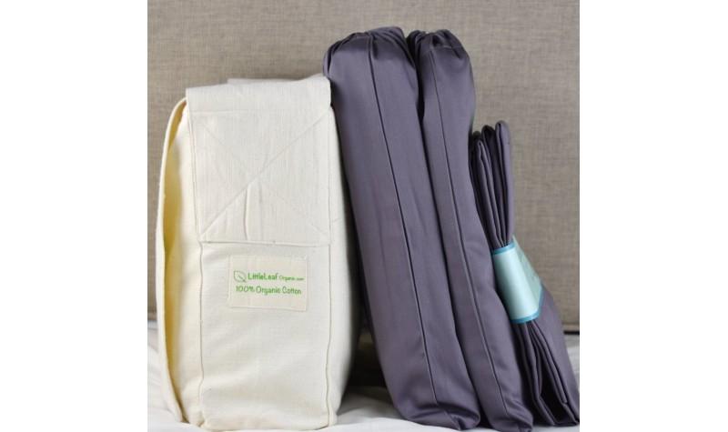 Chocolate Plum Organic Cotton Bedding Set