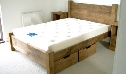 Plank Panel Bed