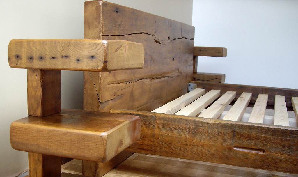 Brentwood Reclaimed Wood Bed Green Woods Furniture