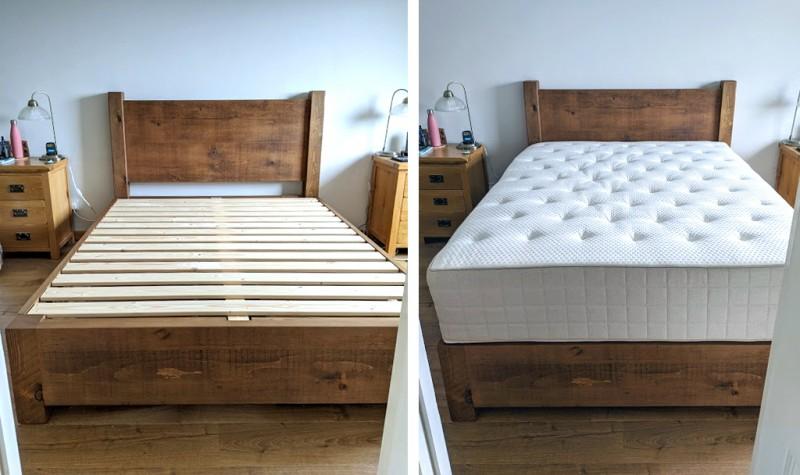 Plank Panel Custom Divan Bed