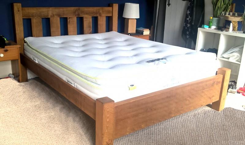 Plank Panel Slatted Bed