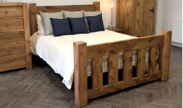 Reclaimed Gate Bed (Slatted)