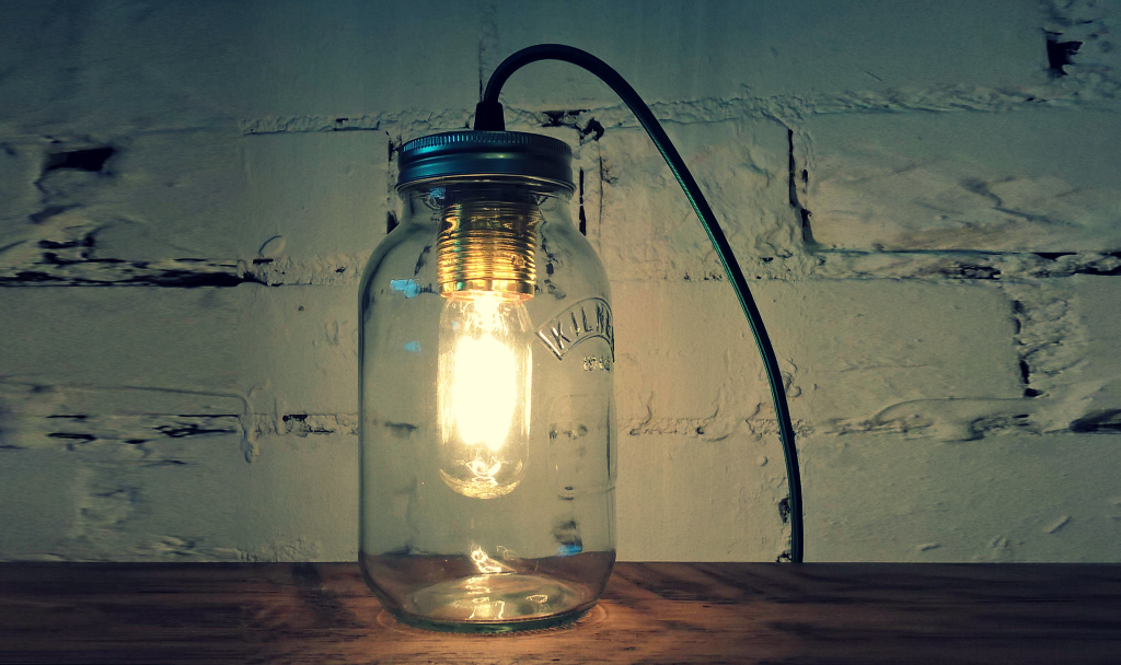 jamjar table lamp