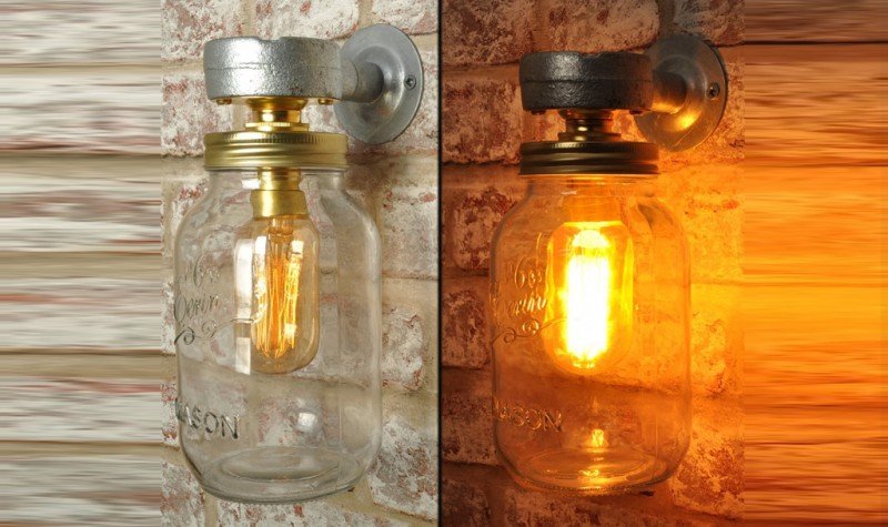 Kilner Wall Lamp (small/wired)