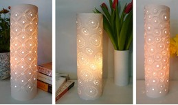 Porcelain Tower Table Lamps