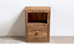 Reclaimed Cube Bedside