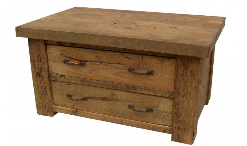 Reclaimed Stockhill 2 Way 2 Drawer Coffee Table