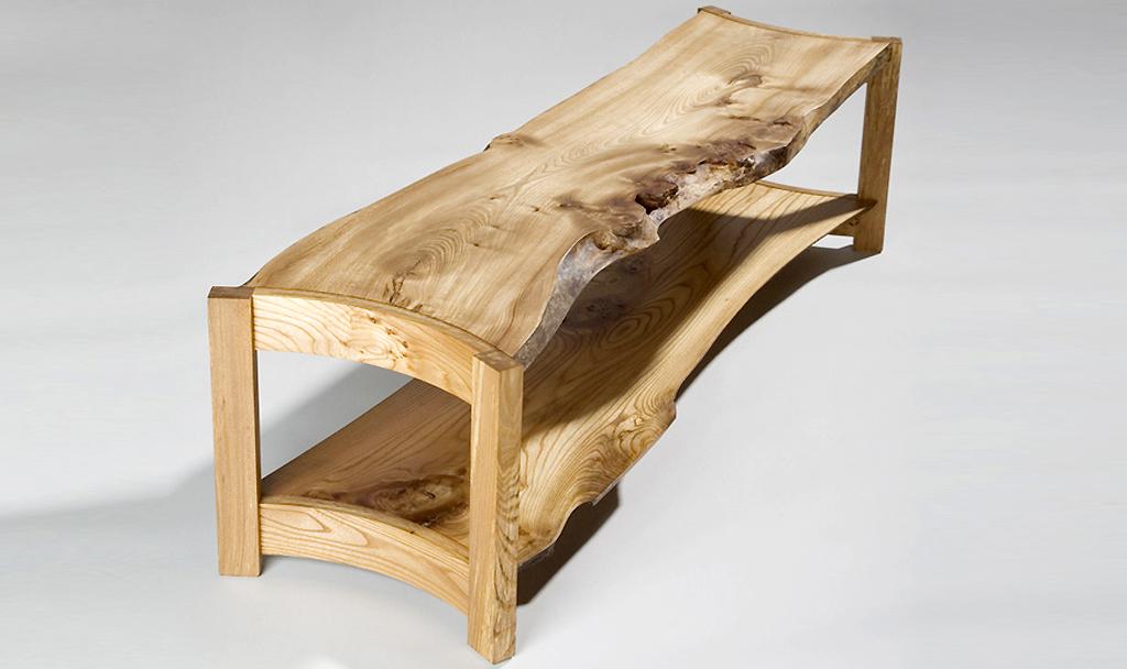 curve waney edge coffee table