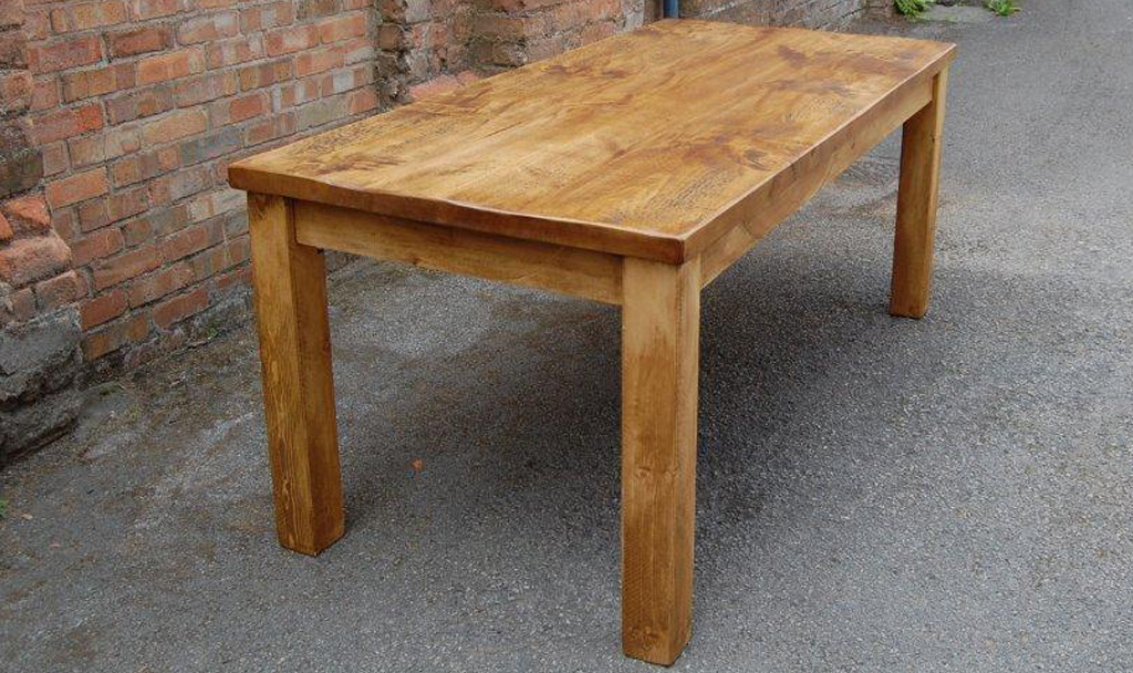 Brand-new Rustic Plank Dining Table IL42