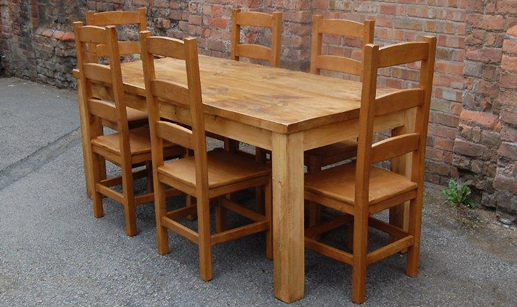 Well known Rustic Plank Dining Table EH38