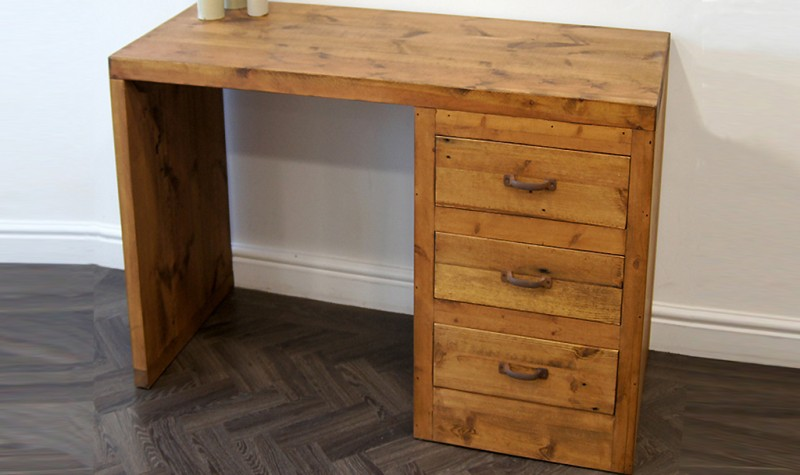 Reclaimed Cube Desk / Dressing Table