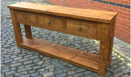 Plank Gate Console Table