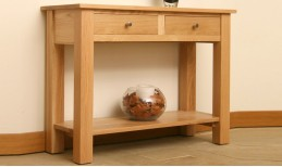 Oak Elements Hall Table