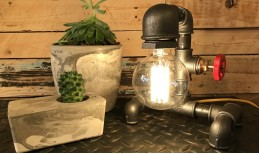 Urban Pipe Table Lamp with Tap Switch