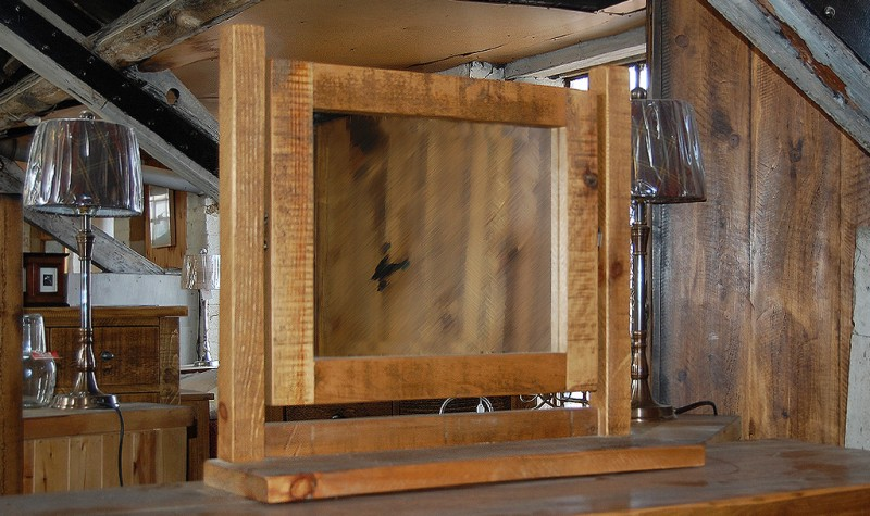 Plank Gate Dressing Table Mirror