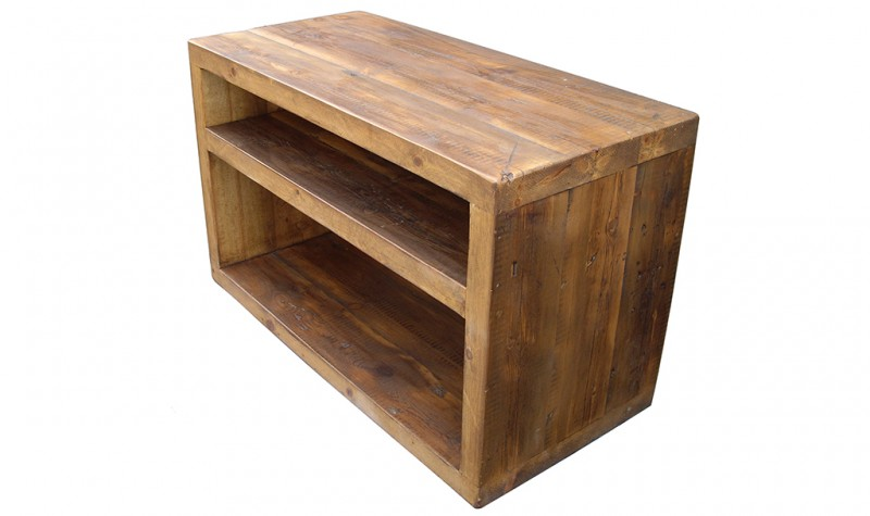 Reclaimed Cube TV Unit
