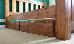 Plank Gate Under Bed Drawers