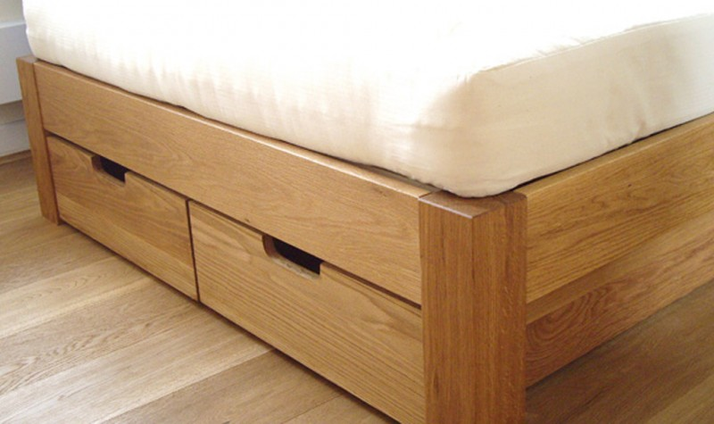 Made To Measure Underbed Drawers Storage For An Oak Bed