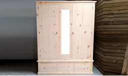 Pure (glue free / natural finish) Wardrobe